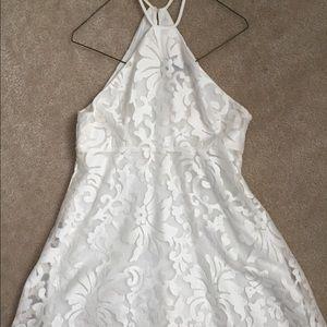 Nastygal white flowy dress